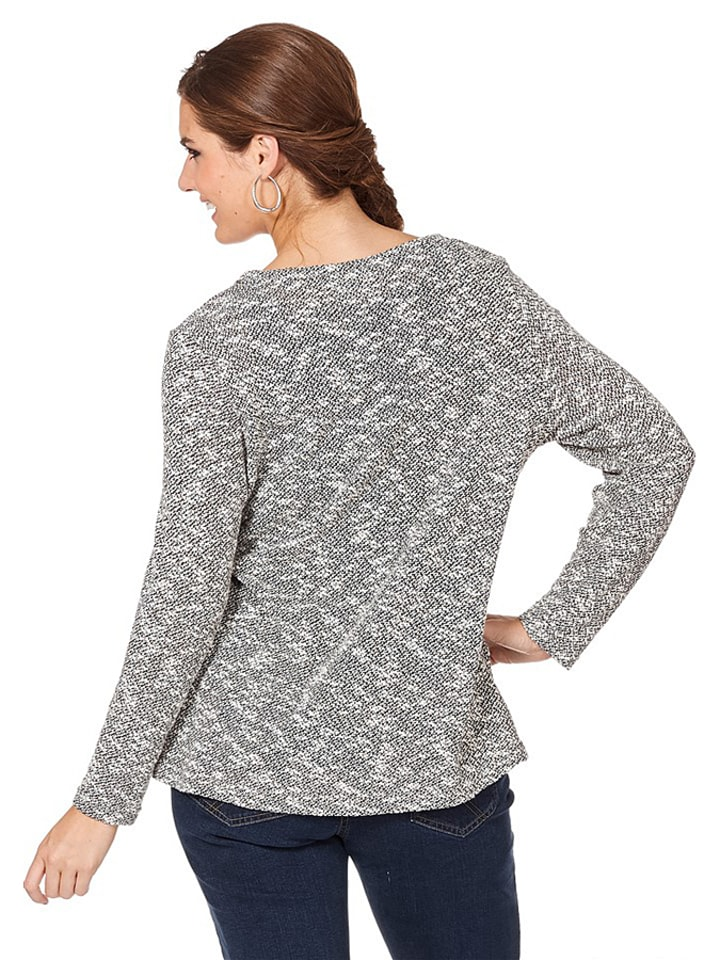 Sheego Pullover in Grau