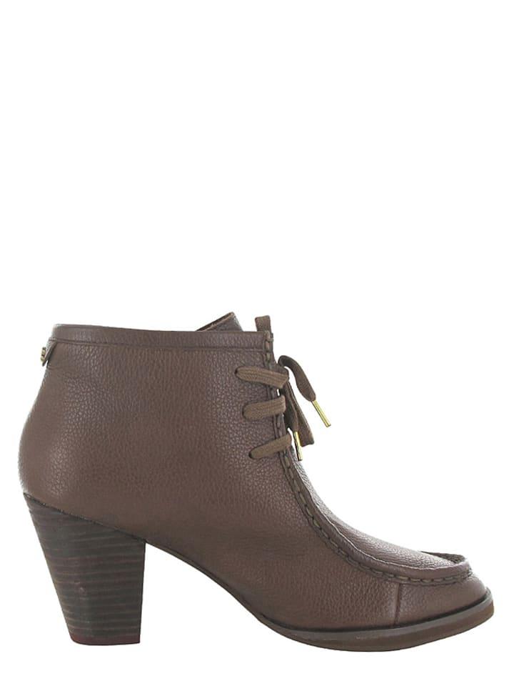 """Flip Flop Leder-Ankle Boots """"Bebek"""" in Braun"""