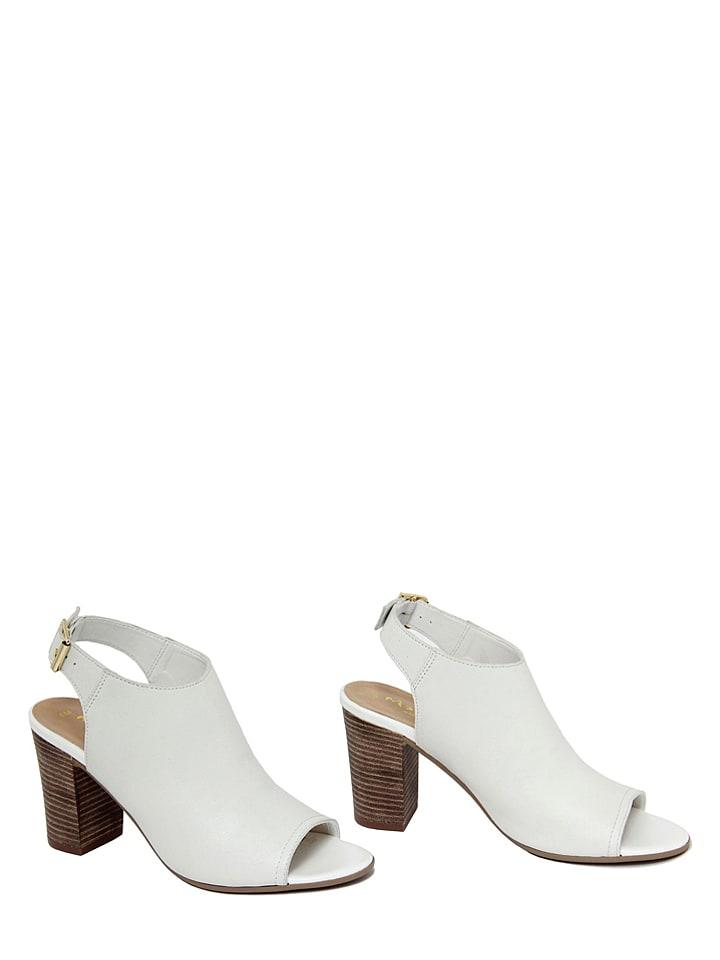 Mariella Leder-Sandaletten in Wei