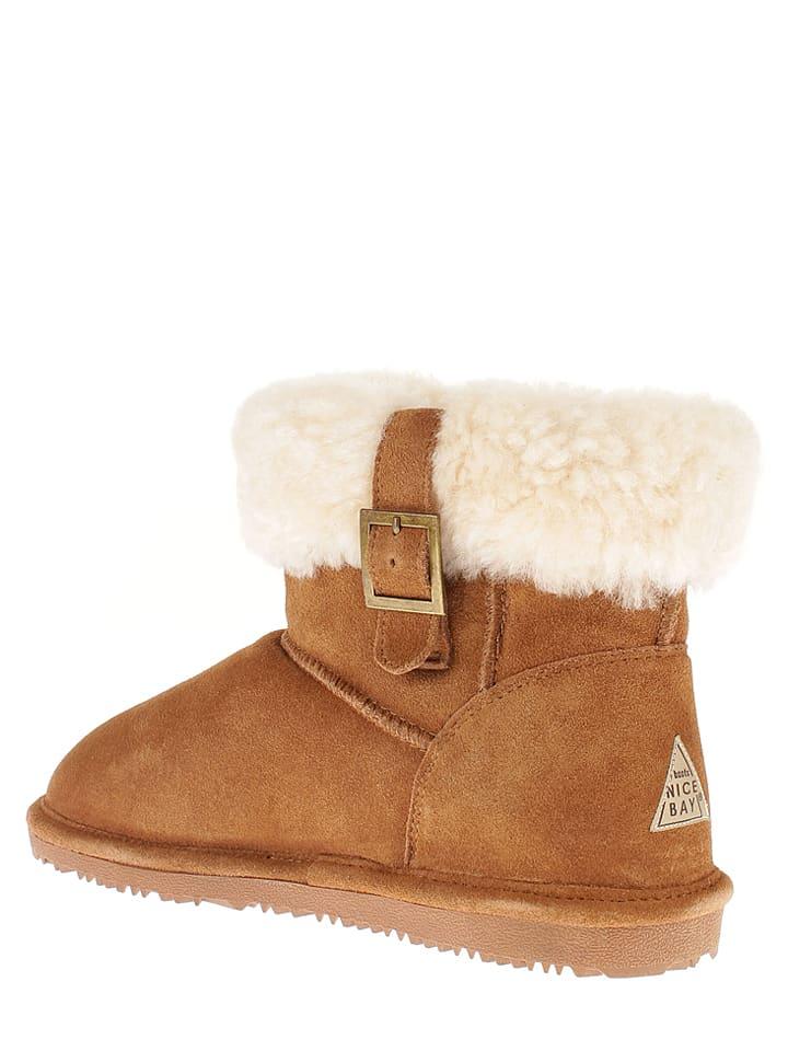 "NICEBAY Leder-Boots ""Annabelle"" in Hellbraun"