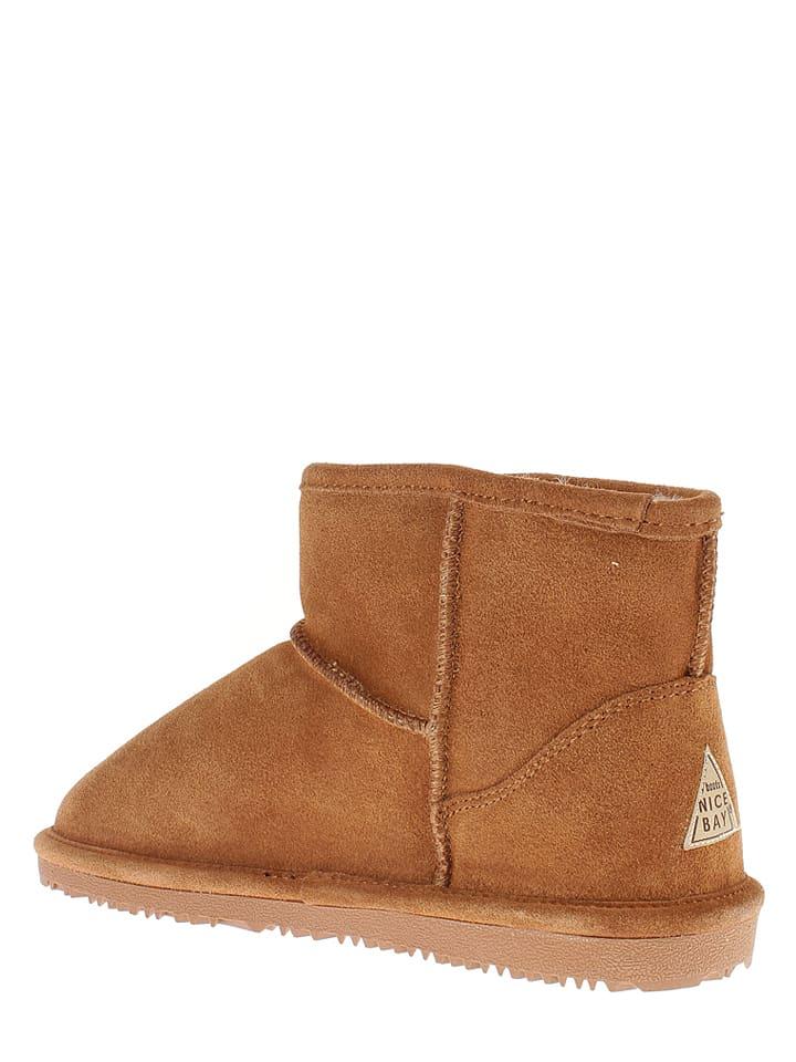 """NICEBAY Leder-Boots """"Moon"""" in Hellbraun"""