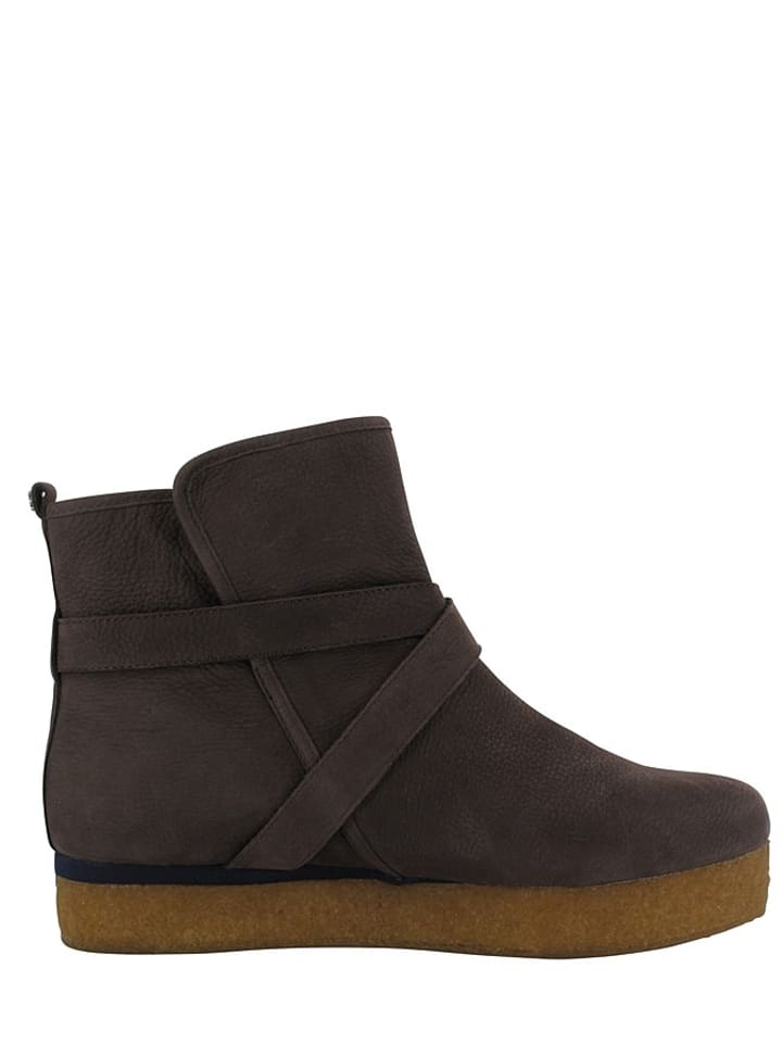 "Flip Flop Leder-Boots ""Billy Ring"" in Dunkelbraun"