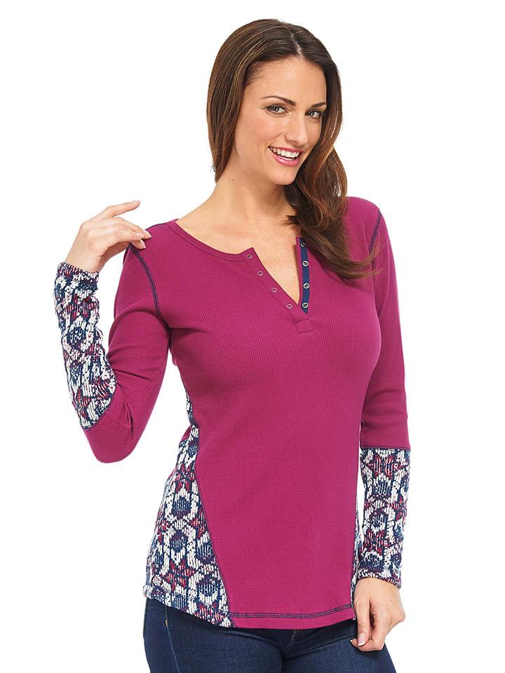 Hatley Shirt in Pink/ Dunkelblau