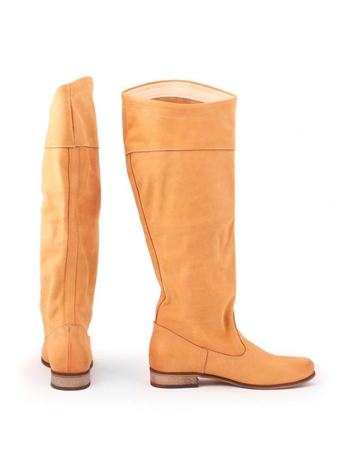 Zapato Leder-Stiefel in Camel