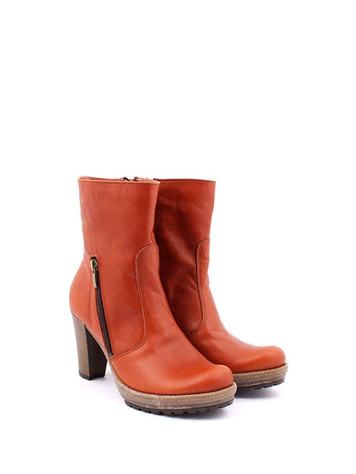 Zapato Leder-Stiefeletten in Braun