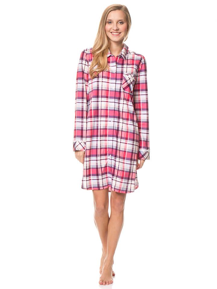 Calida Nachthemd in Pink/ Lila