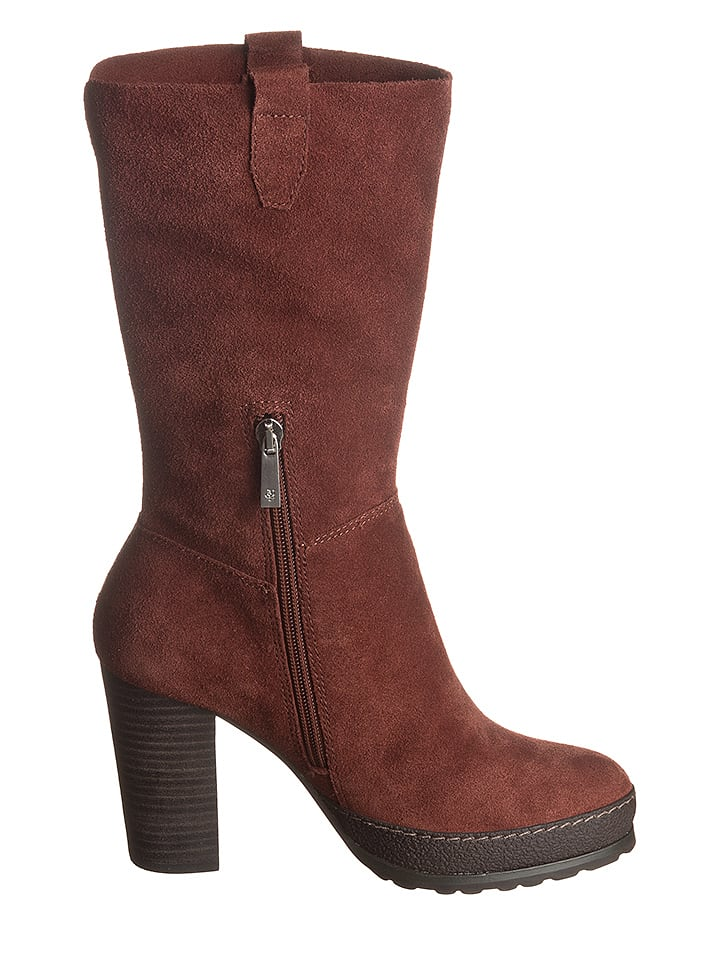 Marc O'Polo Shoes Leder-Stiefel in Braun