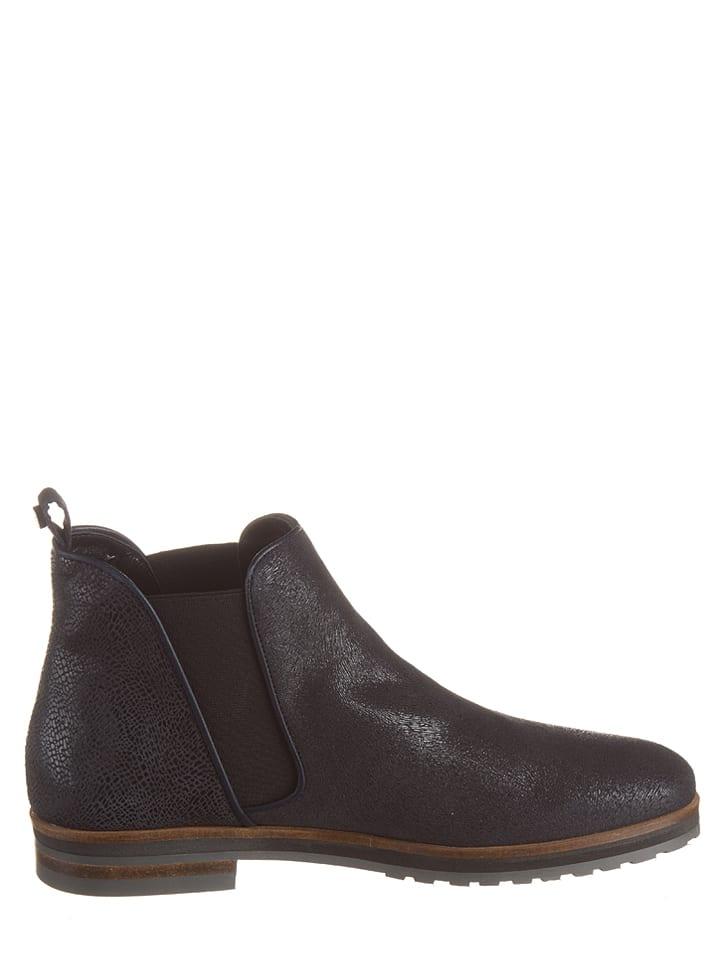 Otto Kern Leder-Chelsea-Boots in Dunkelblau