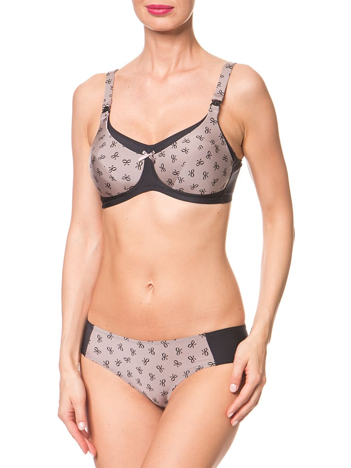 "Anita Still-BH ""Miss Ribbon"" in Schwarz/ Taupe"