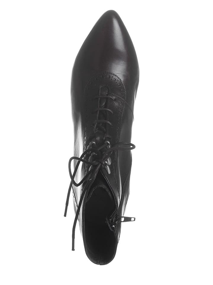 Stockerpoint Leder-Stiefeletten in Schwarz