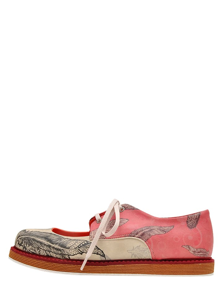 """Dogo Schn眉rschuhe """"Feathers"""" in Rosa/ Bunt"""