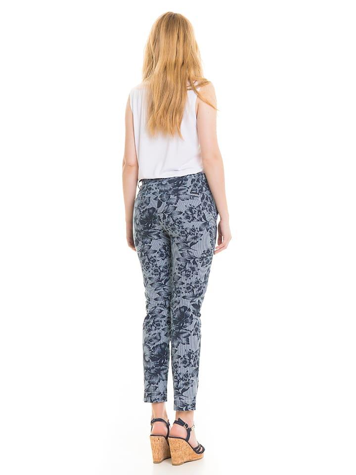 """BIG STAR Jeans """"Alessia"""" - Slim fit - in Blau/ Wei"""