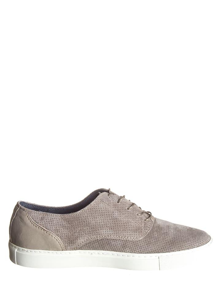 Otto Kern Leder-Sneakers in Hellgrau