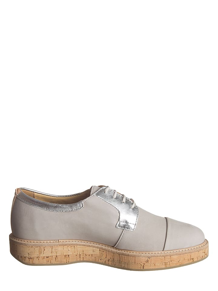 Marc O'Polo Shoes Leder-Schn眉rschuhe in Grau
