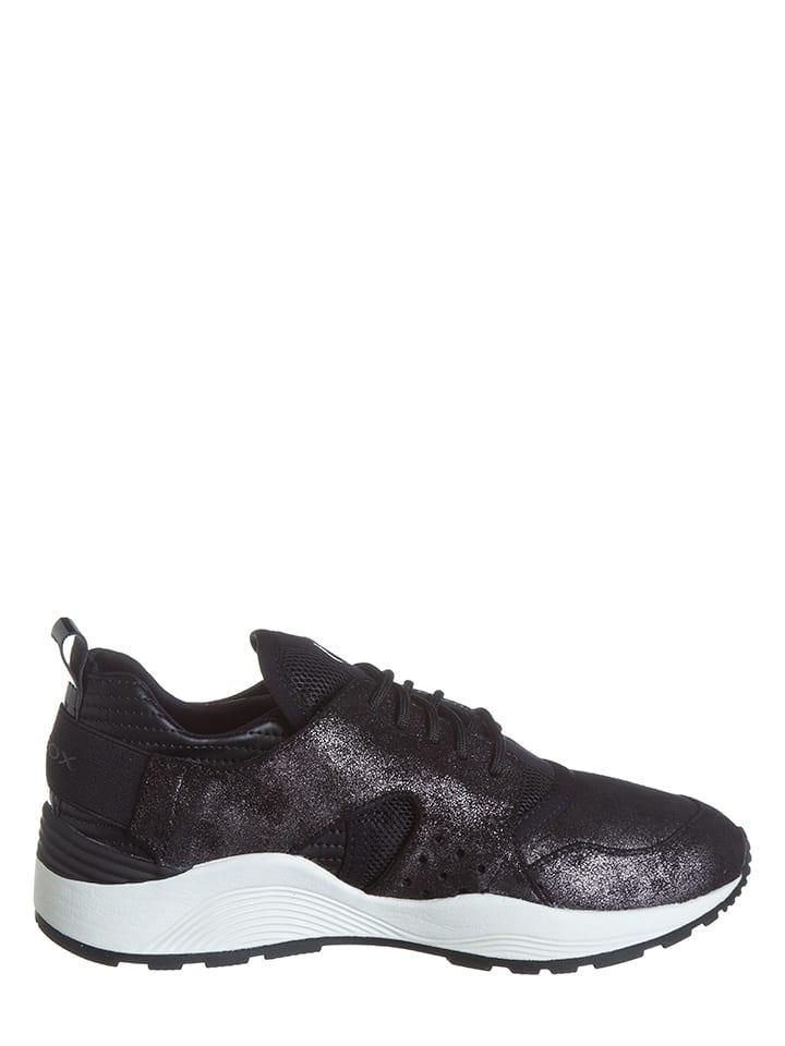"""Geox Sneakers """"Omaya"""" in Schwarz/ Silber"""