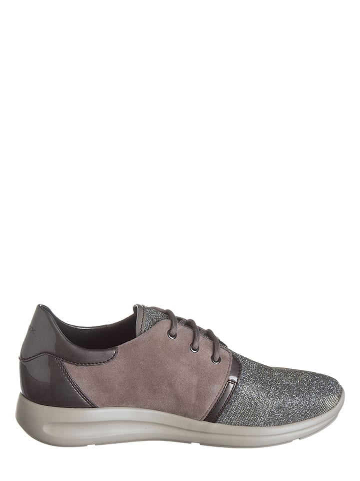 "Geox Sneakers ""Agyleah"" in Taupe/ Silber"