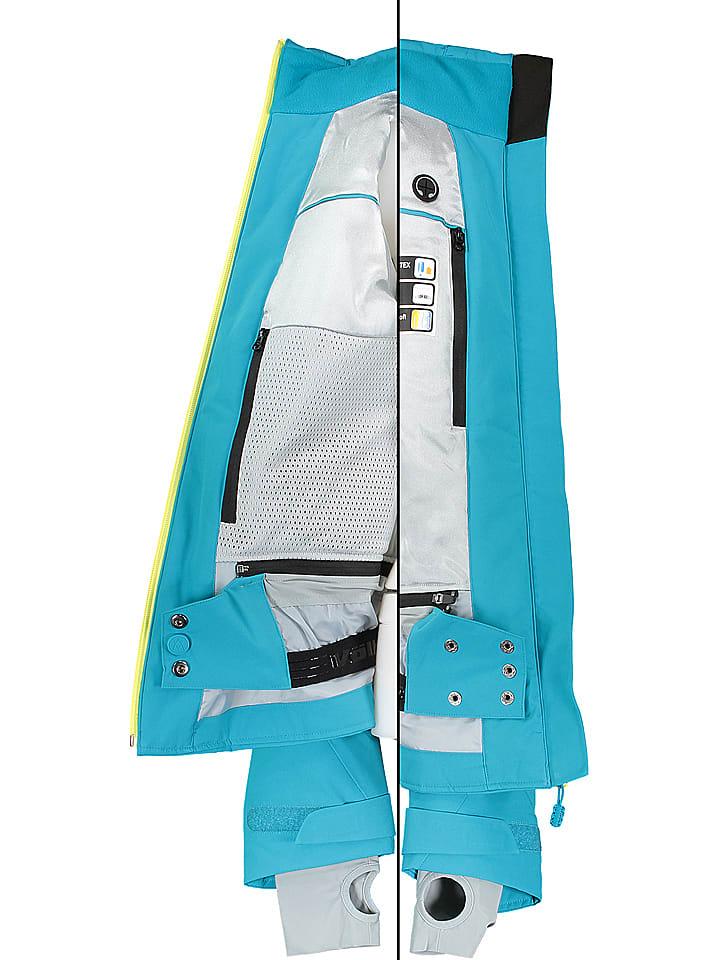 """V枚lkl Ski-/ Snowboardjacke """"Silver Pure"""" in T眉rkis"""