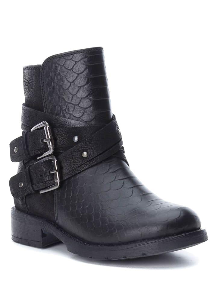 XTI Kids Leder-Boots in Schwarz
