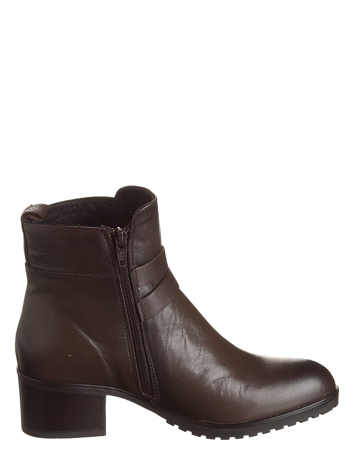 CAF猫NOIR Leder-Boots in Dunkelbraun