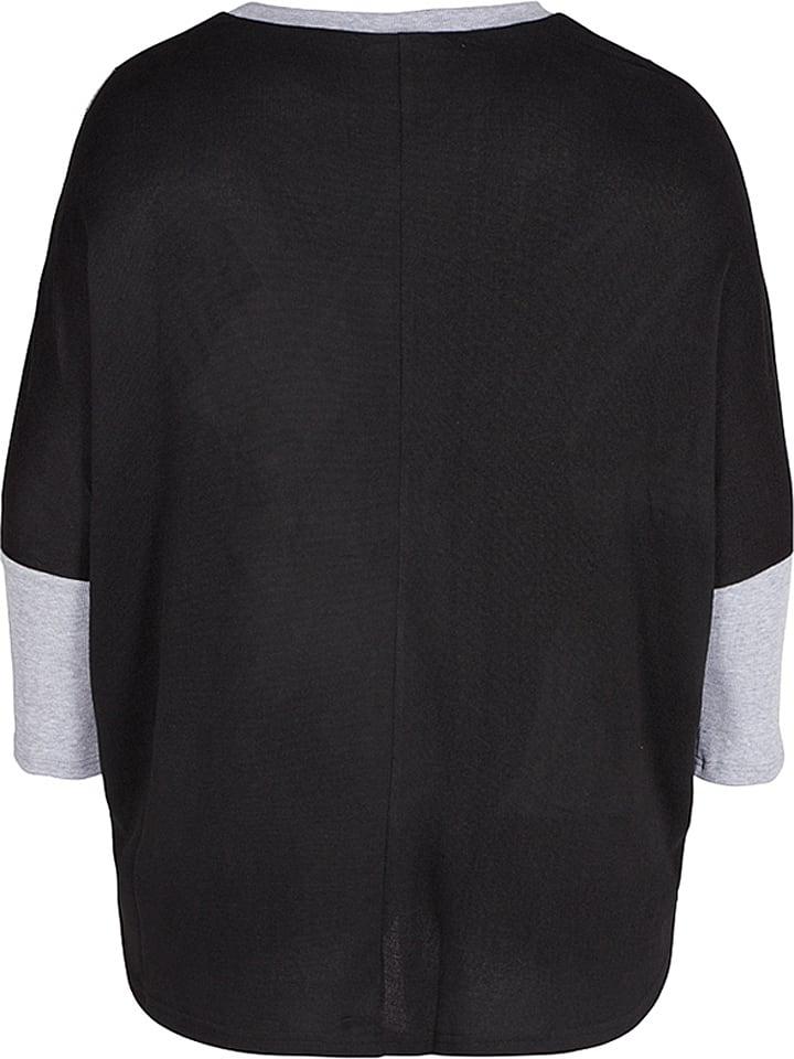 Zizzi Shirt in Schwarz/ Grau