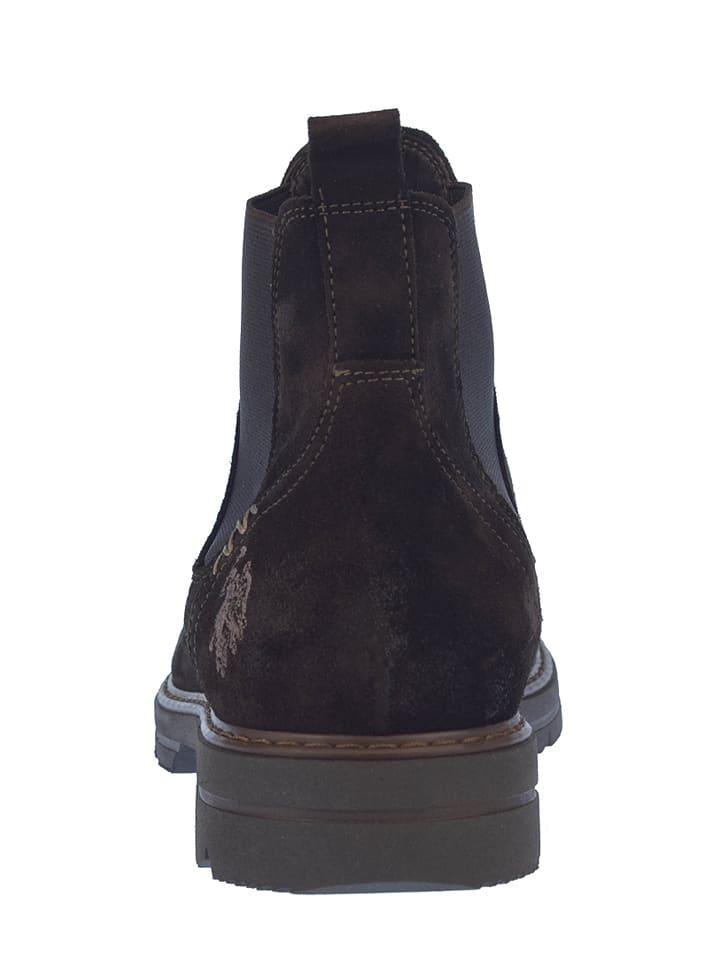 """U.S. Polo Leder-Chelsea-Boots """"Elton"""" in Dunkelbraun"""