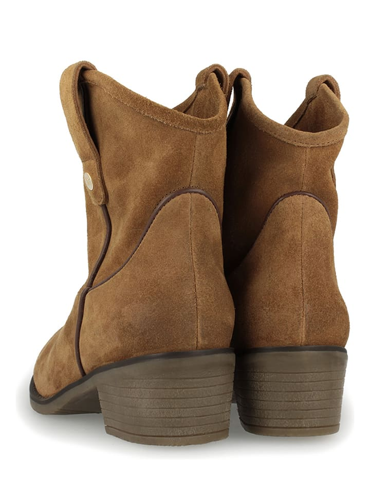 "Gioseppo Leder-Boots ""Bastrop"" in Hellbraun"