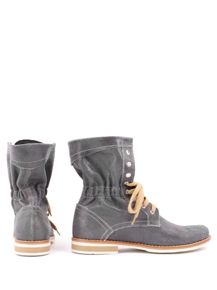 Zapato Leder-Boots in Grau