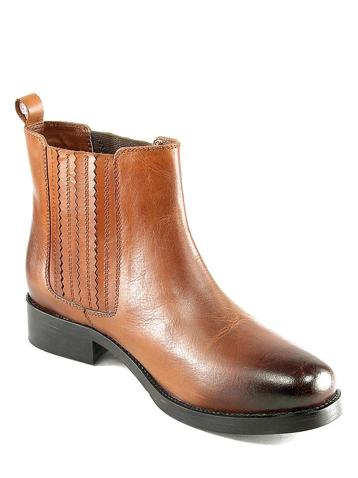 "Ornella Dutti Leder-Chelsea-Boots ""Stef"" in Hellbraun"
