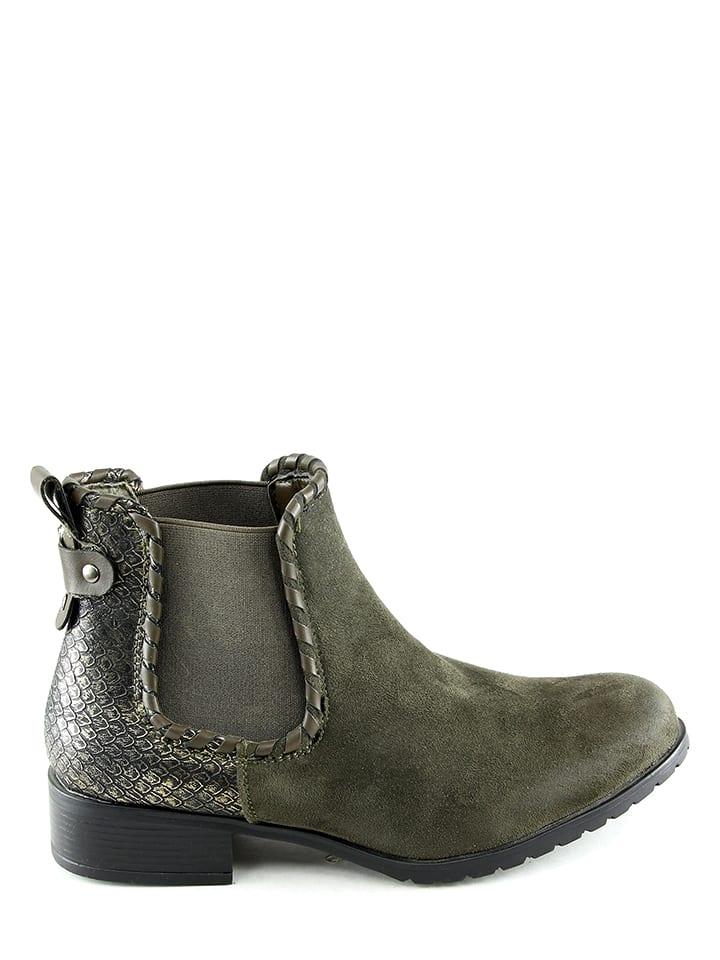 Sixth Sens Chelsea-Boots in Khaki