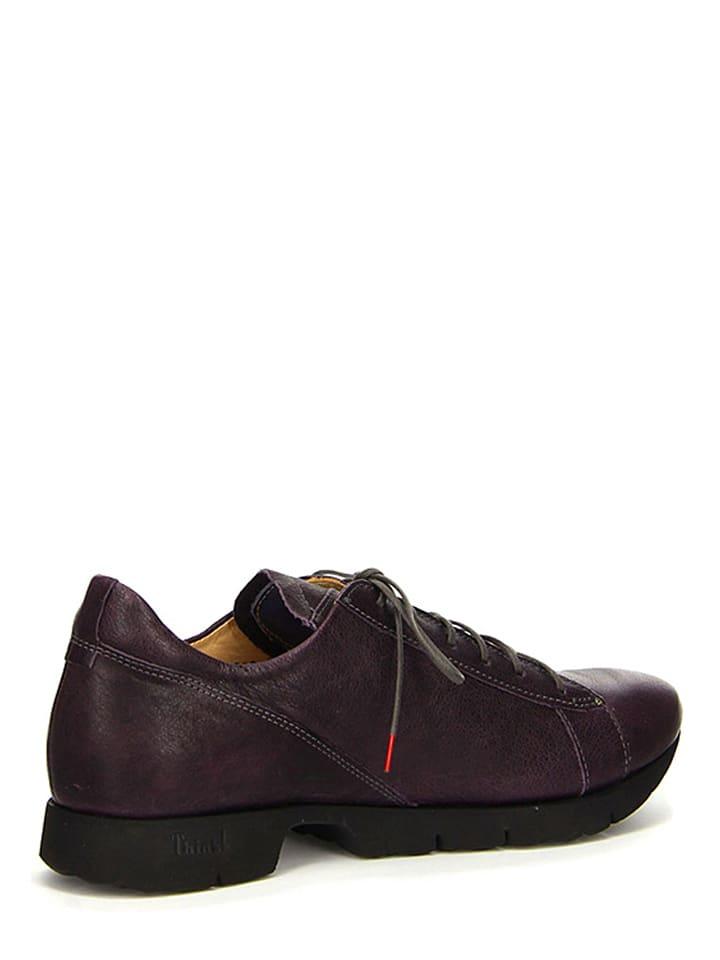 """Think! Leder-Sneakers """"Renna"""" in Aubergine"""