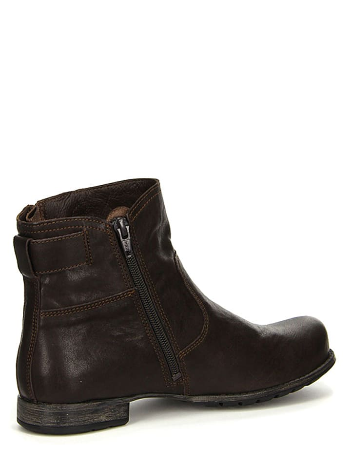 Think! Leder-Stiefeletten in Braun