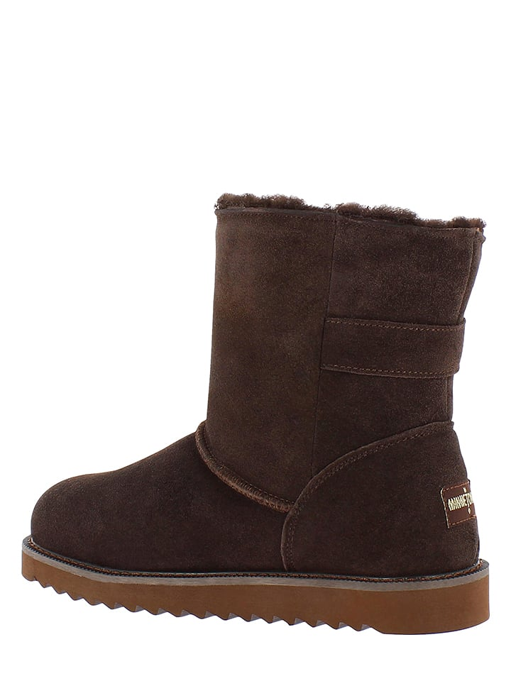 Minnetonka Leder-Boots in Braun