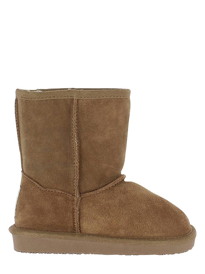 Minnetonka Leder-Boots in Hellbraun