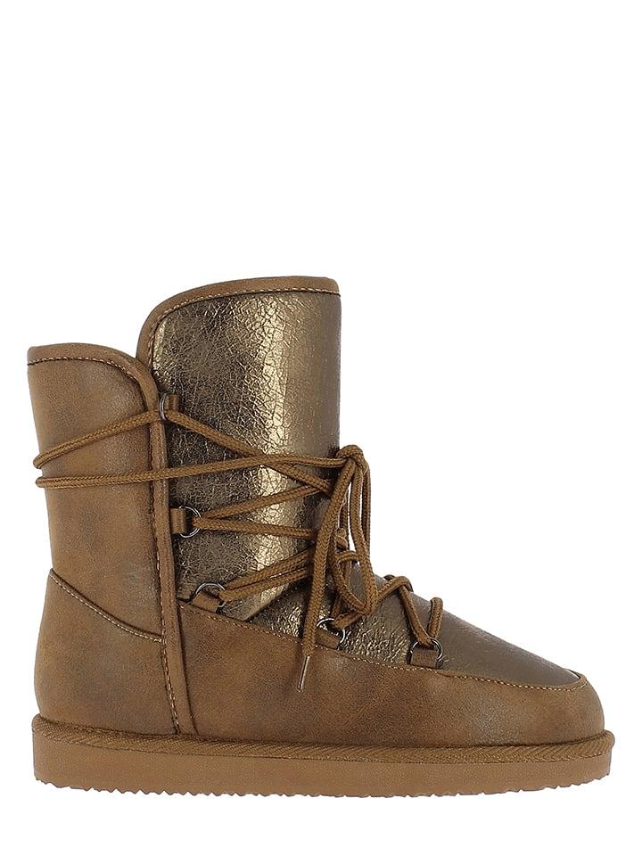 """NICEBAY Boots """"Skag"""" in Hellbraun"""