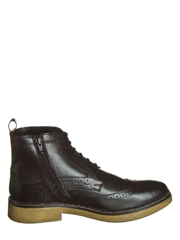 """Kickers Leder-Boots """"Fortino"""" in Schwarz"""