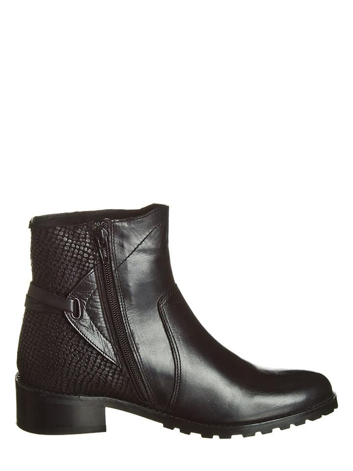 "Kickers Leder-Boots ""Denkey"" in Schwarz"