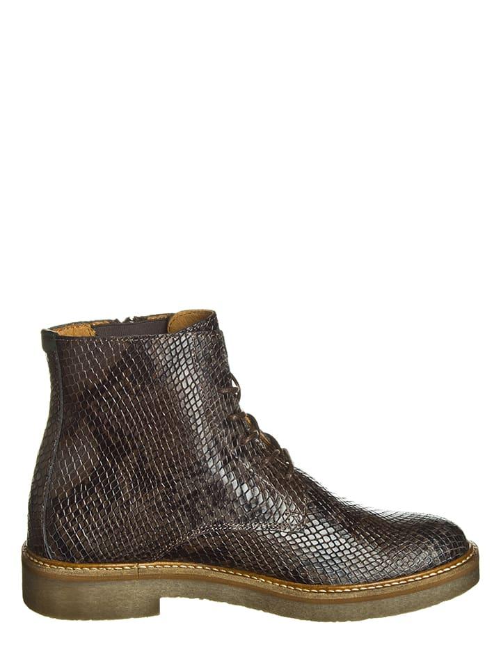 "Kickers Leder-Boots ""Oxfoto"" in Braun"