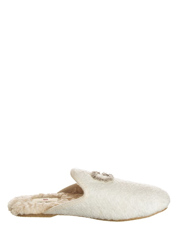 "GANT Footwear Hausschuhe ""Lazy"" in Creme"