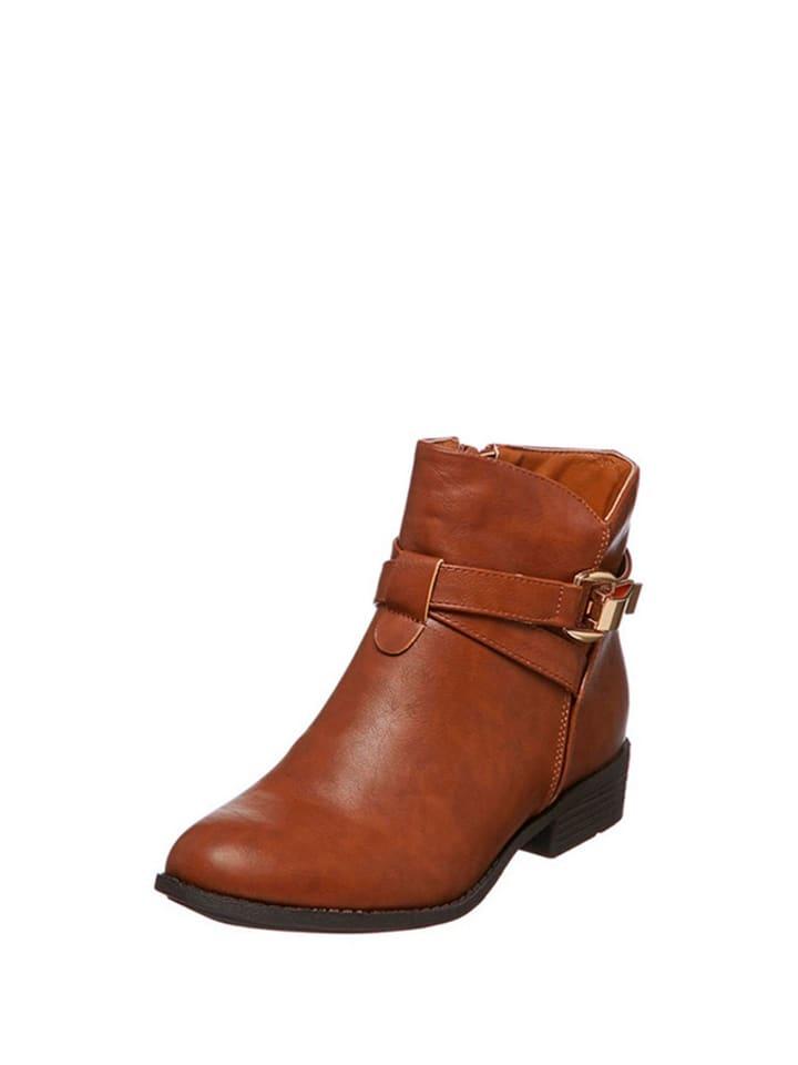 Carla Samuel Ankle-Boots in Hellbraun