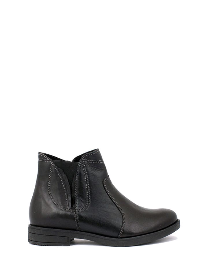 Zapato Leder-Ankle-Boots in Schwarz