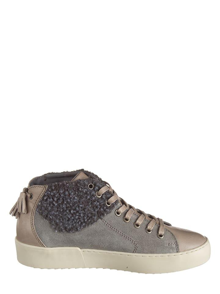 """Napapijri Leder-Sneakers """"Minnie"""" in Grau"""