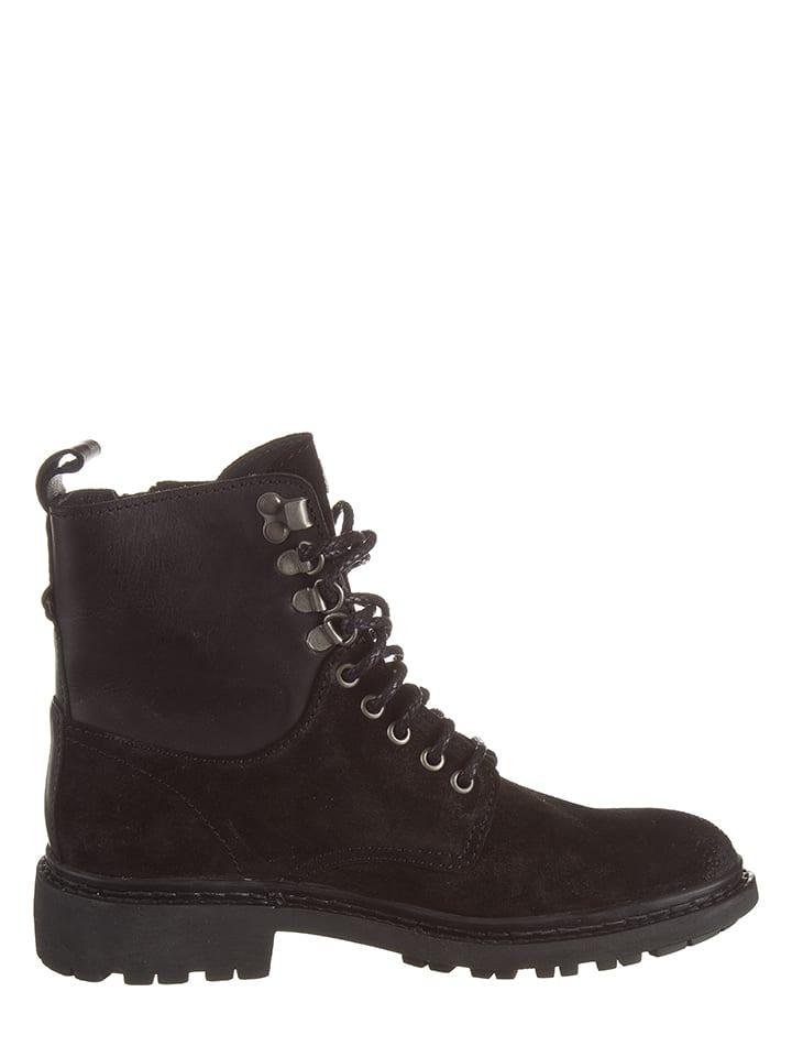 "Napapijri Leder-Boots ""Reese"" in Schwarz"