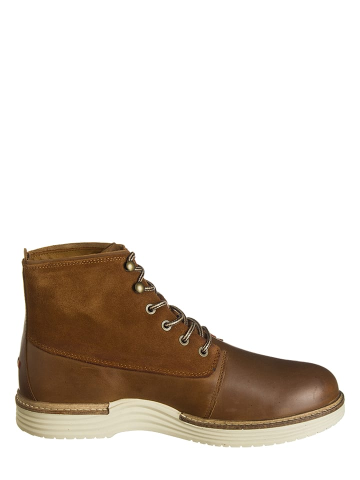 "Napapijri Leder-Boots ""Edmund"" in Cognac"