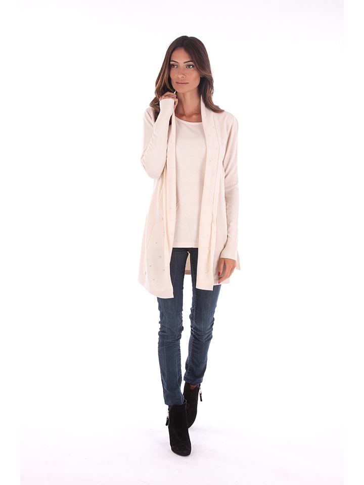 Cashmere 4ever Cardigan in Creme