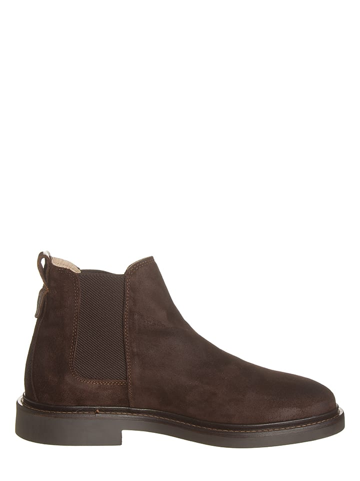 Marc O'Polo Shoes Leder-Chelsea Boots in Braun