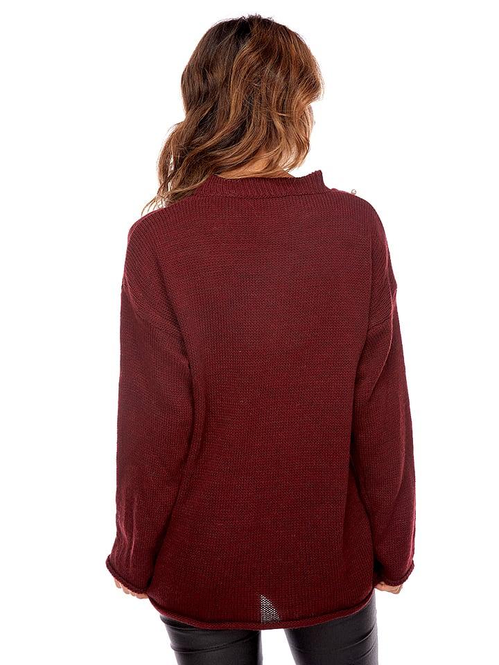 """Uniq Pullover """"Ange"""" in Bordeaux"""