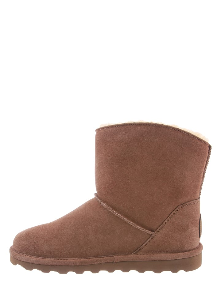 "Bearpaw Leder-Boots ""Margaery"" in Taupe"