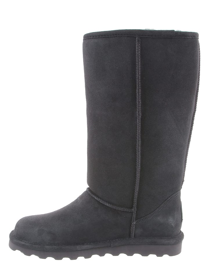 "Bearpaw Leder-Stiefel ""Elle Tall"" in Grau"