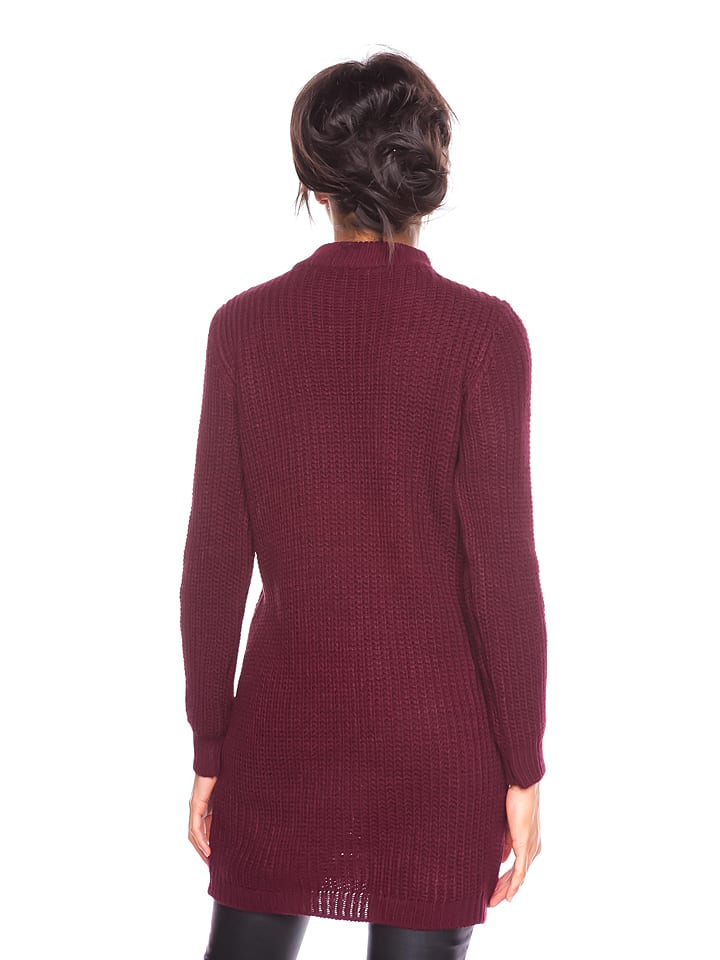 "Cosy Winter Pullover ""Nelly"" in Bordeaux"