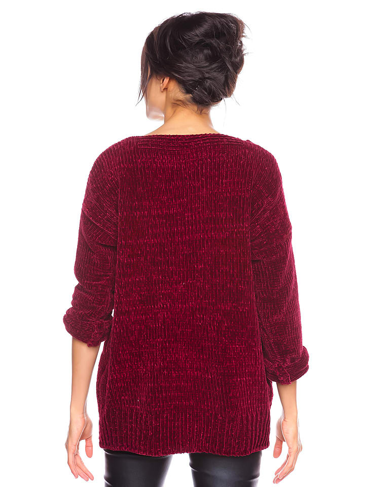 "Cosy Winter Pullover ""Lydia"" in Bordeaux"